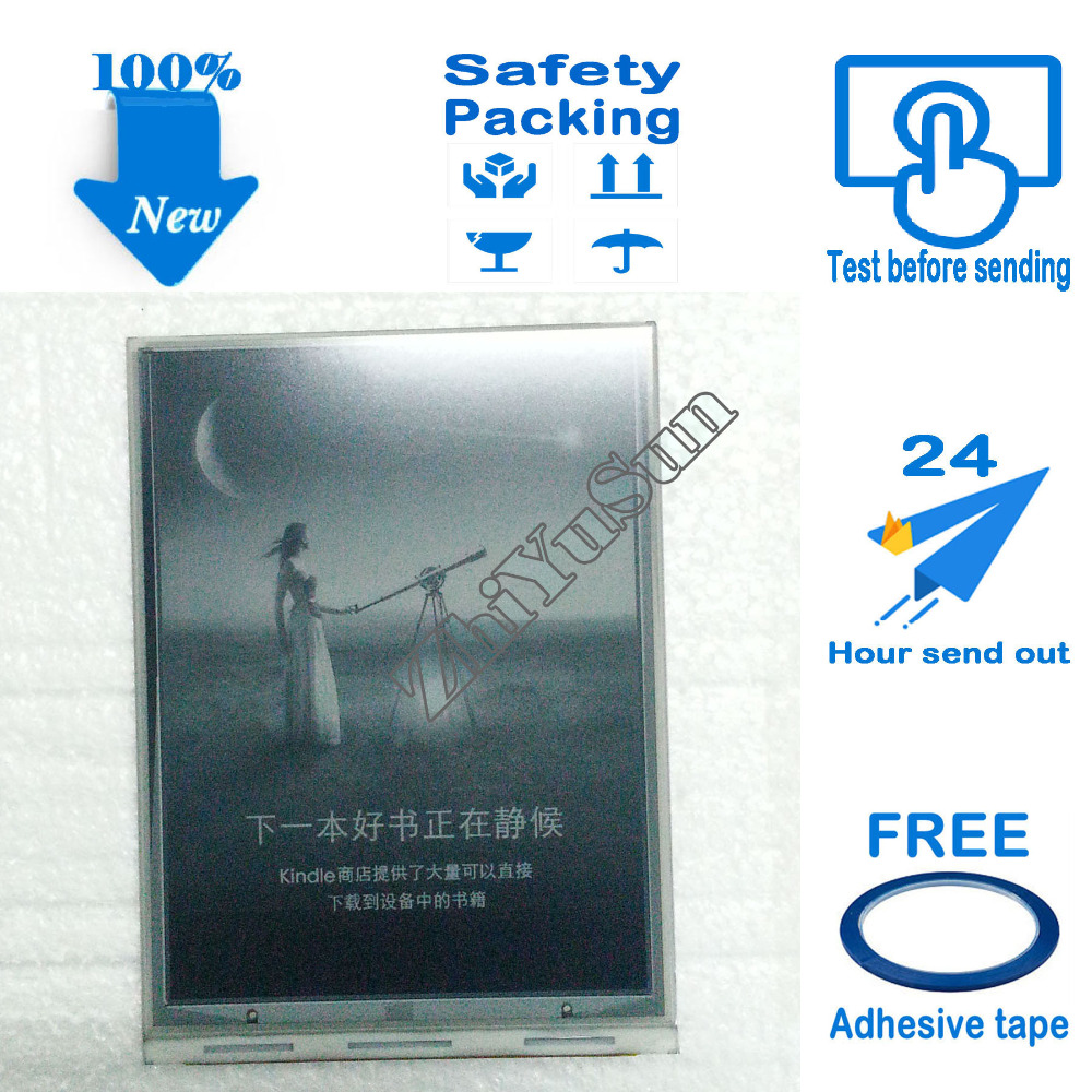 Free Adhesive Tape, 6 Inch LCD Screen Display ED060SCP ED060SCP(LF)(H2) For Kindle 6 Ebook Reader Eink, Safety packing,100% New 6 lcd display screen for digma r660 without backlight lcd display screen e book ebook reader replacement