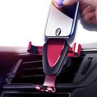 Jusfyu Universele Auto Mobiele Telefoon Mount Houder Auto-Lock Verstelbare Telefoon Beugel Auto Gravity Air Vent Smart Phone Stand