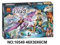 Nueva bela elfos 10549 dragon santuario building blocks ladrillos diy juguetes educativos compatibles con 41178 juguetes para