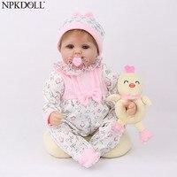 NPKDOLL Reborn Baby Doll 45CM Christmas Gift For Girls 17 Inch Baby Alive Soft Chicken Toys For Girls Lovely Bebe Reborn