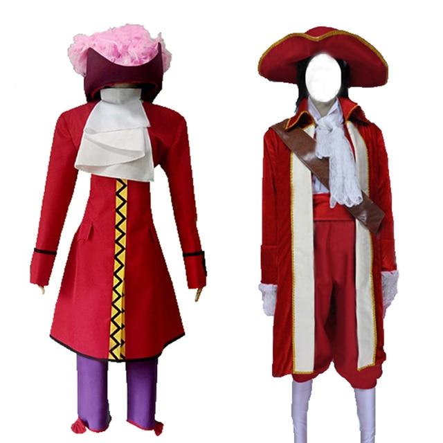 F Peter Pan Captain Hook Cosplay Costume Adult Men ...