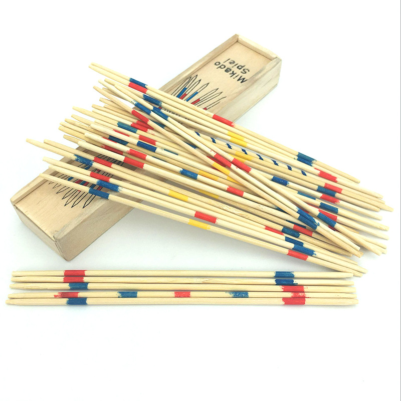 2-4 Year Kids Baby Educational Wooden Math Toy Mikado Spiel Pick Up Sticks Kids Number Counting Montessori Classical Toys