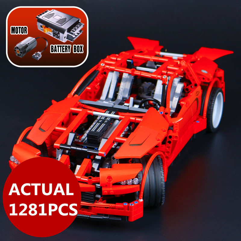 LEPIN 20028 Technic series 1281PCS Super Car assembly toy car model DIY brick building block toy gift for boy New Year gift 8070 lepin 22001 pirate ship imperial warships model building block briks toys gift 1717pcs compatible legoed 10210