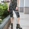 Freearmy Brand Womens Camouflage Pants Women's Army Cargo Half Pants Shorts Cotton Sexy Skinny Trousers For Women GK-9518B
