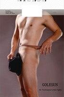Golesun masculinos pantalones emperador 5D bolsa de calcetines nuevos y tenedor masculinos medias ultrafinas pantimedias