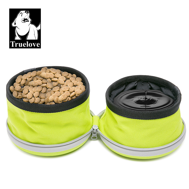 Складная двойная собачья миска для еды и воды