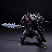 7″ 17CM WOW Online Game Toy DC Unlimited Series 2 Human Warrior [Archilon Shadowheart] Action Figure PVC Toy Figure B705