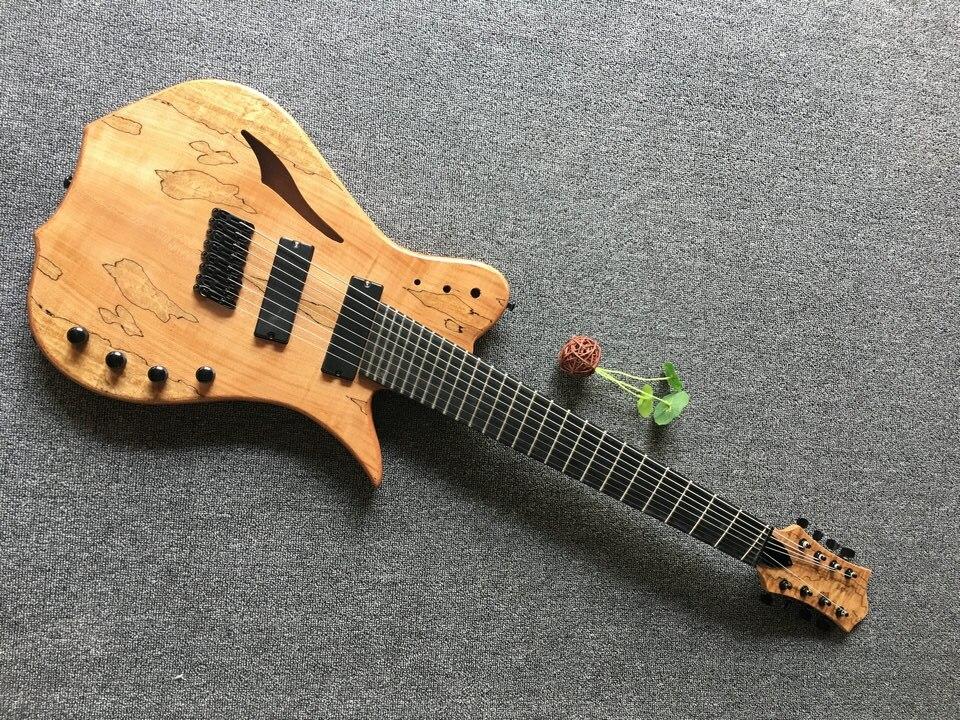 Magasin personnalisé multi-scaled 8 cordes guitare; Fanned frettes livraison gratuite (logo personnalisé weill être ajouté gratuitement
