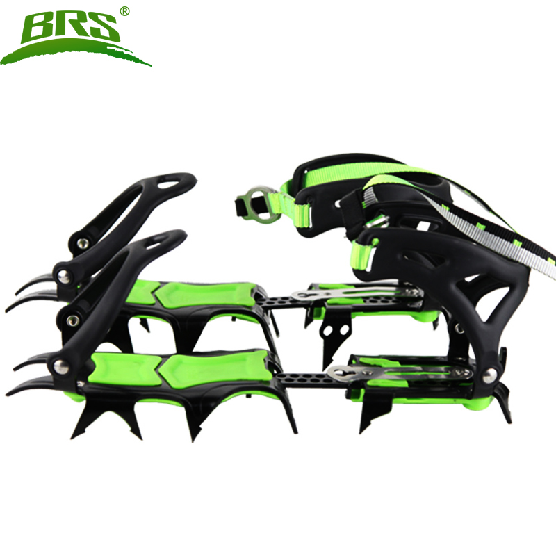 BRS 14 Teeth Claws Crampons Shoes Non slip Cover Ice Gripper Outdoor Ski Ice Snow Hiking Climbing brs s3 ultralight 14 teeth aluminium alloy bundled crampons ice gripper outdoor ice climbing kits