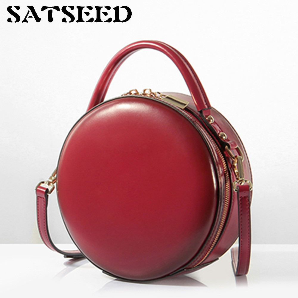 Women Bag 2017 Dermis Genuine Leather New Cute Little Round Cow Leather Handbag Worn Mini Bag dc dc adjustable boost module 2a boost plate 2a step up module with micro usb 2v 24v to 5v 9v 12v 28v