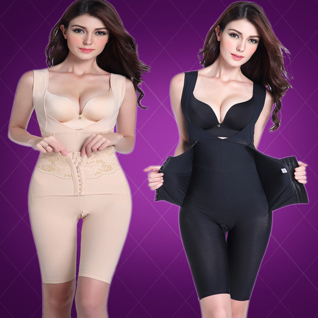 Beauty care smooth soft bodysuits waist double control compression shaper lift bras shapewear recovery body
