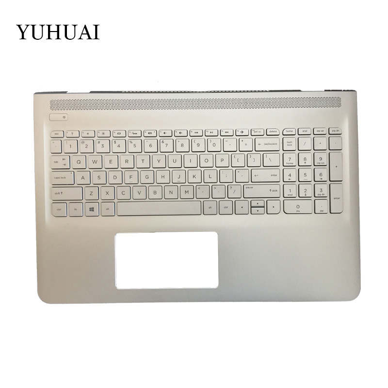 New US laptop keyboard For HP Pavilion 15-AS 15-as000 15t-as000 English Keyboard backlit with Palmrest Upper laptop palmrest for hp pavilion 15 n000 15 n100 black with touch pad big enter 1a32h84006 95% new