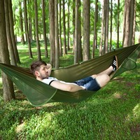 Outdoor Swing with Mosquito Net Parachute Hammock Portable Camping Hanging Sleeping Bed High Strength Sleeping Swing 290X140cm