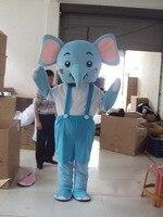 Elephant Mascot Adult Size Costume Mascotte Cartoon Appearl Halloween Birthday Cosplay