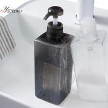 OYOURLIFE 600ml Press Type Transparent Liquid Soap Dispensers Pump Shower Shampoo Bottle Bathroom Hand Sanitizer Container
