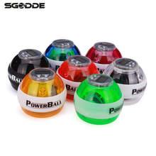 Фитнес Бодибилдинг Пробег Booster Power LED Запястье Мяч Сцепление Круглый Шар Рука Тренажер Скорость Метр 5 Цветов
