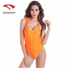 SWIMMART swimsuit push up sexy beauty back ruffled strap one-piece bikini swimwear women one piece swimming suit for swim