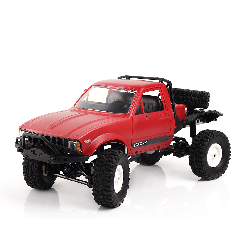 WPL C14 1:16 2.4G 2CH 4WD Off-road RC Climb Semi-truck Metal Chassis TPR Tires