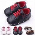 Первые ходоки 2015 мода PU детская обувь новорожденных мальчиков девушки антискользящий младенцы Bebe обувь