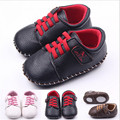 2015 moda PU zapatos de bebé recién nacidos niños niñas primeros caminante antideslizante bebés Bebe zapatos