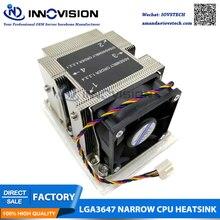 LGA3647 узкий 2u радиатор для 2u/3u/4u/рабочая станция сервер тепловой процессор кулер 3647-2UCAN