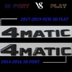 Image 5 - 3D Matt Black W221 W222 Car Emblem S350 S320 S430 S500 S63 S65 Badge Sticker Auto 4MATIC BITURBO Star Logo For Mercedes Benz AMG
