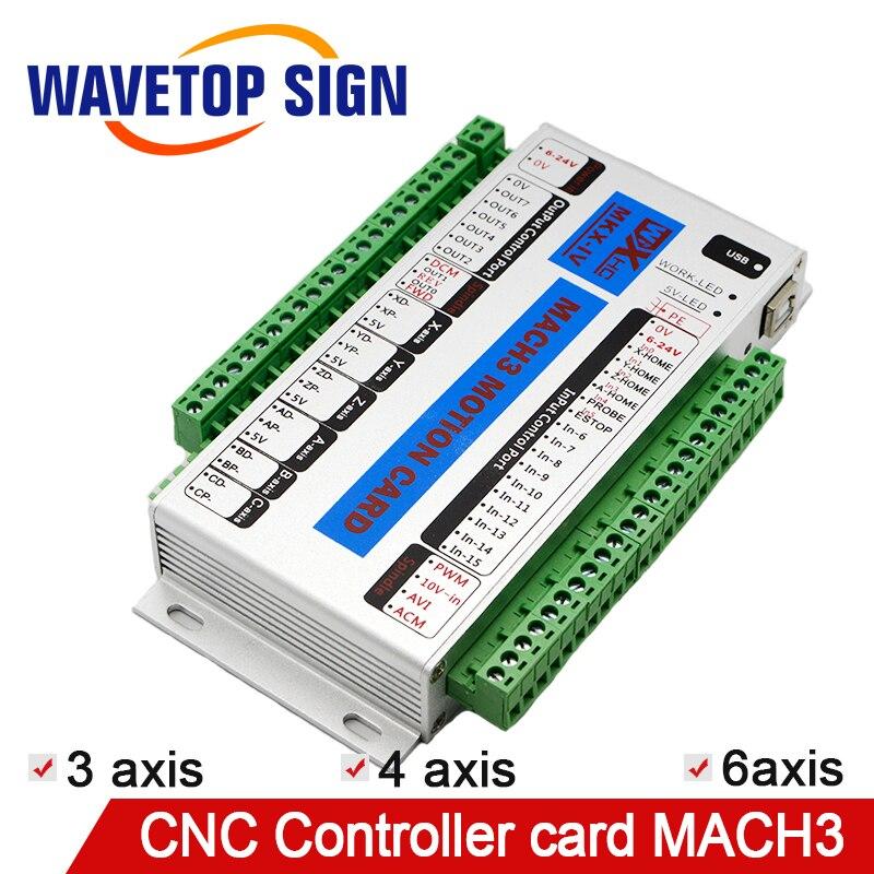 Mach 3 CNC carte de contrôle 3 axe 4 axe 6 axe XHC MK4 CNC Mach3 port usb Soutien Fenêtre 7 Systerm