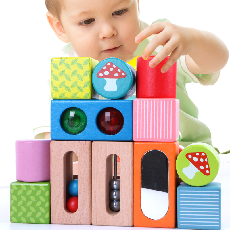MamimamiHome Baby Beech Wooden Early Education Toys Montessori Musical Toys For Children Intellectual Music Building Blocks puzzle multifunctional piano baby early education music hand drums intelligent piano toys