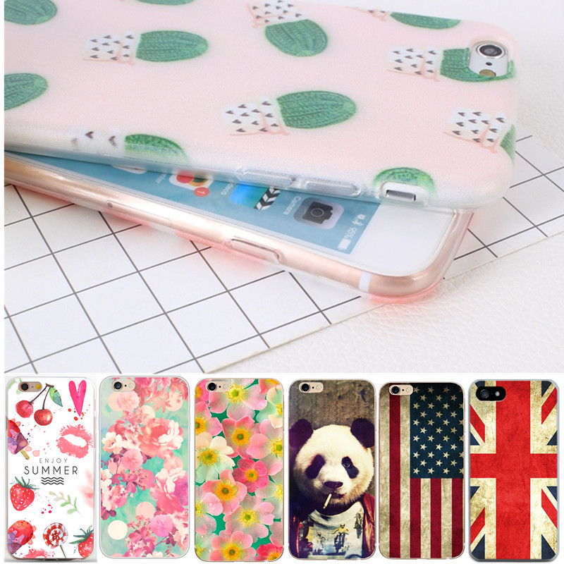 Cute Cat Tiger Phone Case For iphone 7 8 PLUS 5 5S 6 6s 4.7 Capa Silicone Thin Soft TPU Bags Back Protective For iphone 6 s