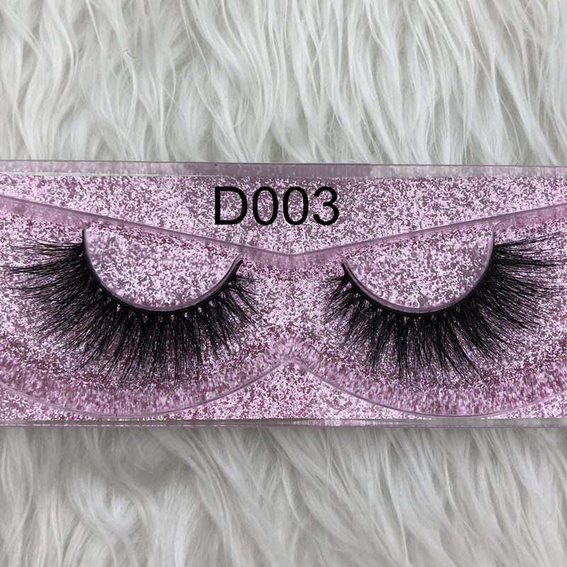 Factory sell in stock 3d mykonos 100% real handmade siberian mink fur strip lashes 3d d008 mink eyelashes