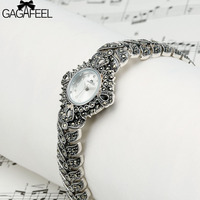 GAGAFEEL Women S Bracelet Watch 925 Sterling Silver Wristwatch Clock Luxury Brand Dress Watches Hours For