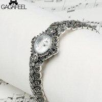GAGAFEEL Women's Bracelet Watch 925 Sterling Silver Wristwatch Clock Luxury Brand Dress Watches Hours for Ladies Woman