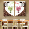 DIY 5D Diamond Embroidery Painting Cross Stitch Love Tree Coffee Cups Mosaic Needlework For Dining Room