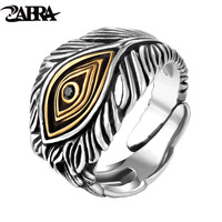 925 Sterling Silver Adjustable Opening Retro Style Male Cool Ring 100 Real Pure Silver Man Jewelry