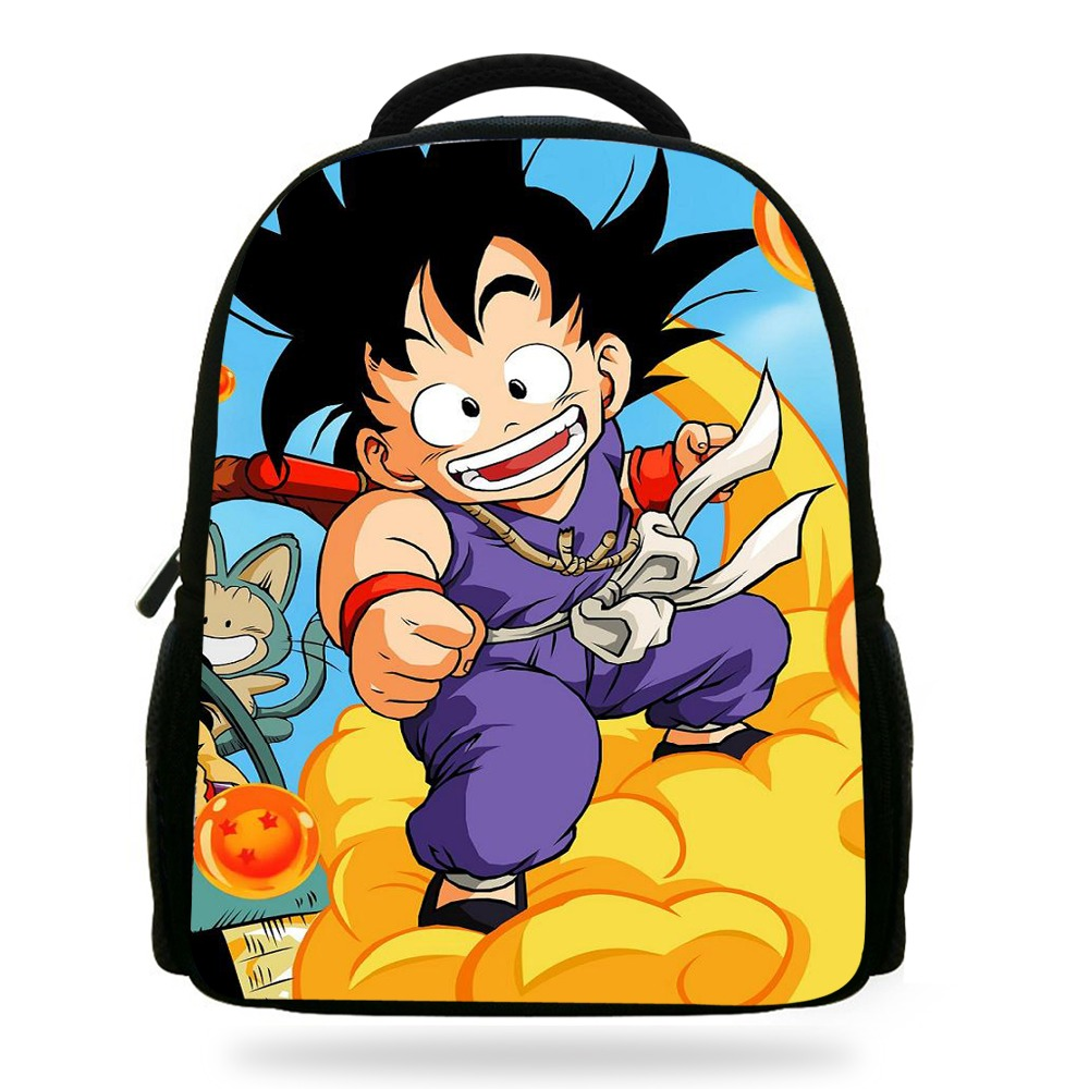 14Inch Mochila School Kids Backpack Dragon Ball Boys Super Saiyan Print Children School  ...