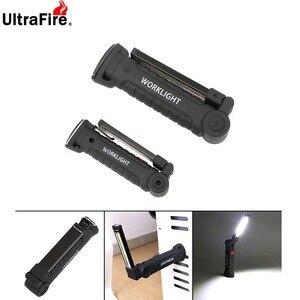 Image 3 - Portatil 5 modo COB linterna antorcha USB recargable llevo la luz del trabajo magnetico COB Lanterna gancho colgante lampara par