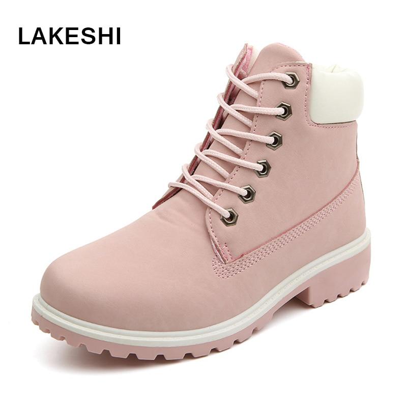 Women boots Winter Shoes Brand Flats Boots Fashion Women Ankle Boots Hard Outsole Warm Women shoes winter boots women