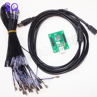 4.8 connector 2 players PC PS/3 2 IN 1 Arcade to USB controller 2 player MAME Multicade Keyboard Encoder USB to Jamma