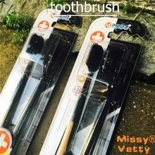 2 шт. зубные щетки nano глубокая очистка очистка и гигиена Полости Рта отбеливание зубов антибактериальные Мягкие Взрослых зубная щетка бамбука