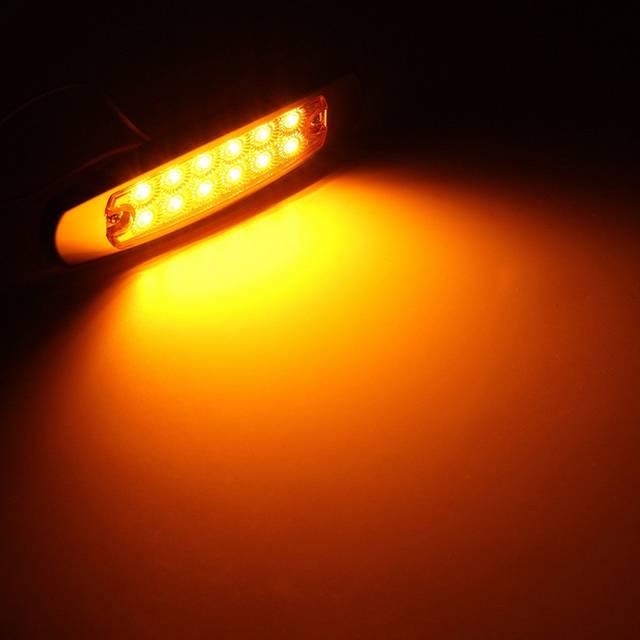 Led Lights For Semi Trucks >> Dc 12 24v Car Marker Light Tail Lights 12 Led Bulbs For Trailers Truck Semi Trucks Auto Vehicle Tail Lights For Trailers