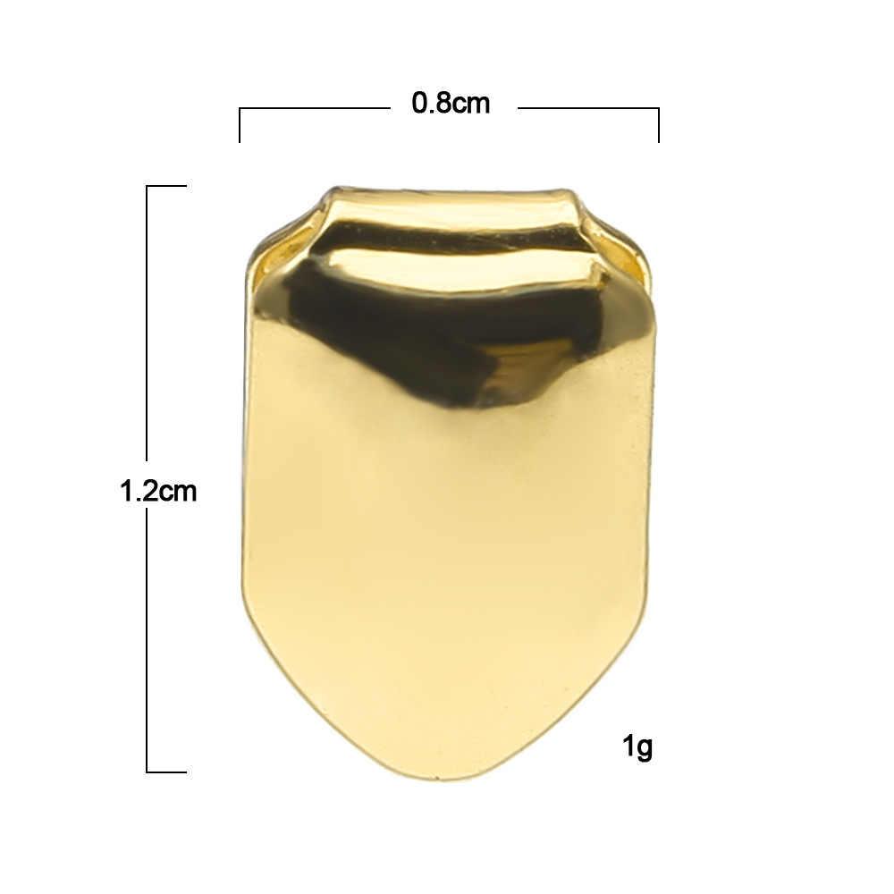 GUCY חדש Fit רוז לבן זהב צבע מצופה היפ הופ אחת שן Grillz כובע למעלה & תחתון גריל זהב שיניים כובעים