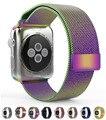 2016 top encerramento fecho magnético malha banda para apple watch 42mm 38mm milanese malha malha de aço inoxidável link pulseira pulseira