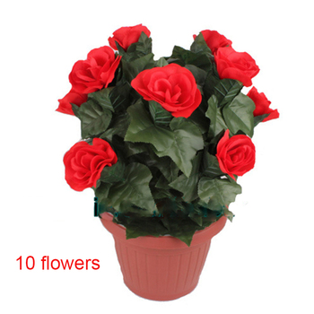 Blooming Rose Bush - Remote Control (10 Flowers,Battery Version) Magic Tricks Flower Appearing Stage Party Wedding Props Comedy