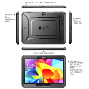 Image 3 - SUPCASE For Samsung Galaxy Tab 4 10.1 Case UB Pro Full body Rugged Hybrid Protective Cover Case with Built in Screen Protector