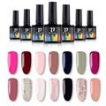 В наличии 14 цветов цветной лак для ногтей 15 мл УФ-гель для ногтей матовый лак с блестками лак подкрепление Soak Off ногтей гель для ногтей - фото