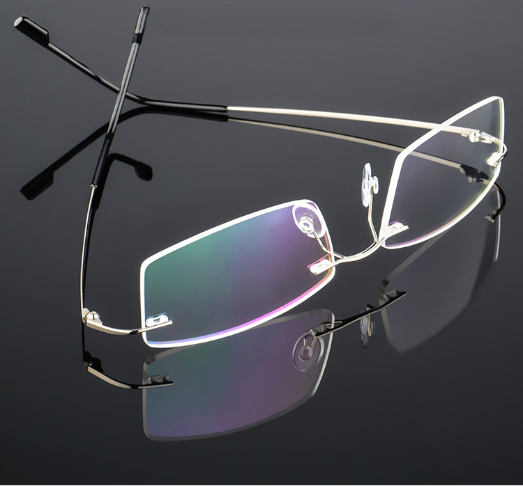 80bce4005efaf Compre Leve Sem Aro Óculos De Armação De Óculos De Titânio De ...