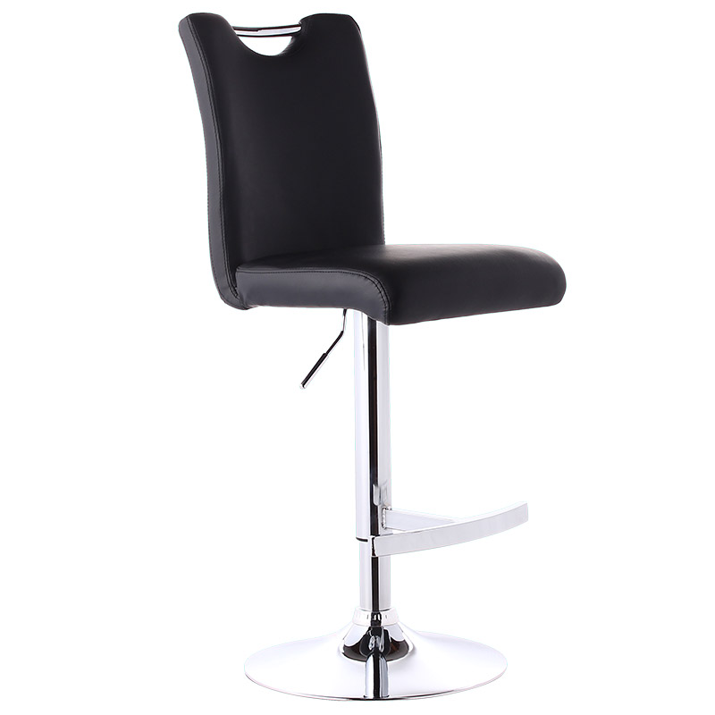 High Quality Lifting Swivel Bar Chair Rotating Adjustable Height Pub Bar Stool Chair PU Material Reception/Waiting Room cadeira high quality lifting swivel bar counter chair rotating adjustable height bar stool chair stainless steel stent rotatable