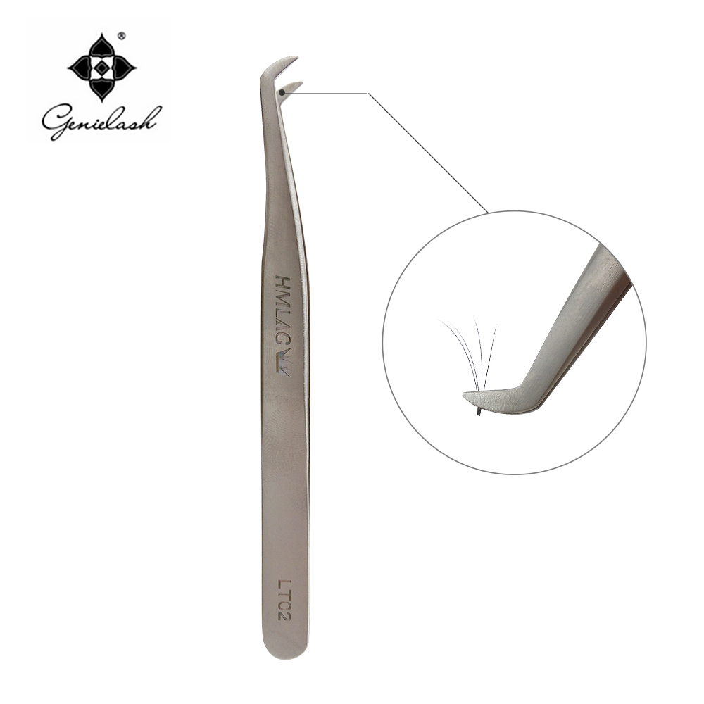 LT-02 Tweezers for eyelash extensions Tools for 3D 6D Volume Eyelash extension Lashes Fr ...