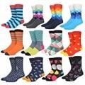 Moda colorida happy socks dos homens cor hit, listras, Dot Jacquard de Algodão Puro Casual Mens Meias 018 w cococat