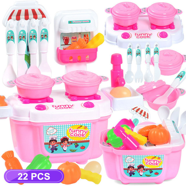Kid's Mini Kitchen Role Play Game